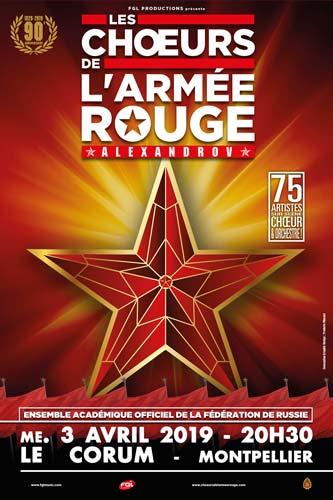 Les Choeurs de l'Armée Rouge à Montpellier